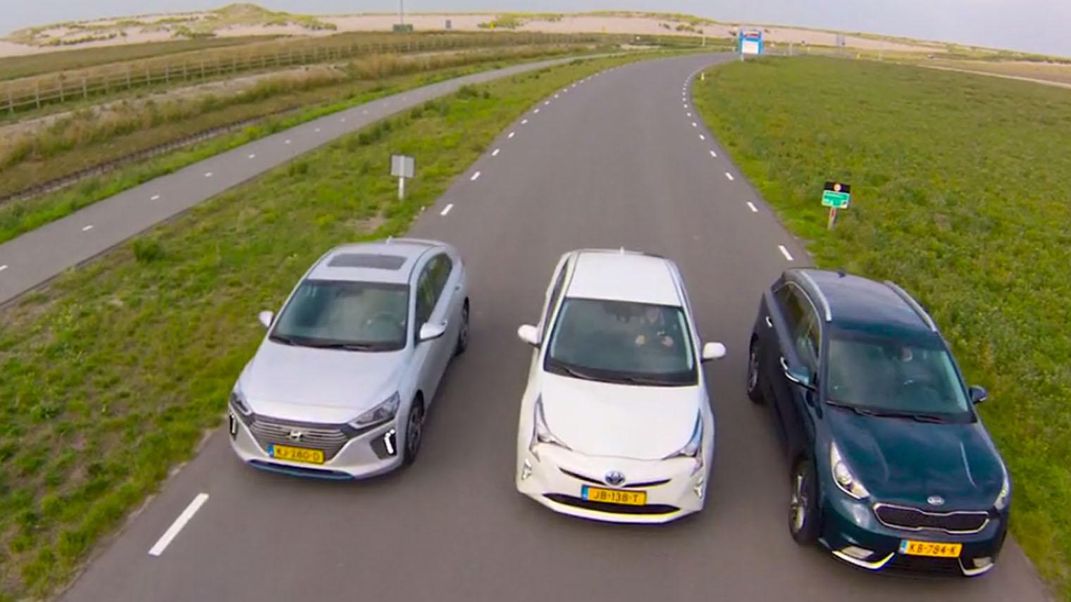 Triotest Hyundai Ioniq Vs Kia Niro Vs Toyota Prius Anwb