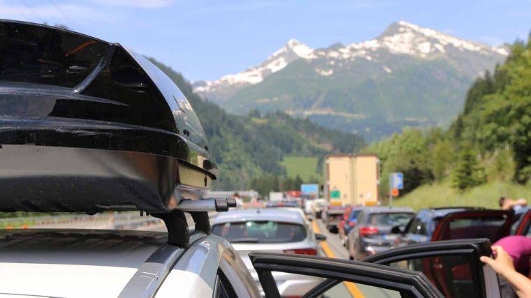 Stau im Alpenraum
