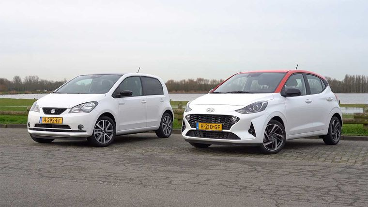 Dubbeltest Hyundai i10 vs. Seat Mii electric