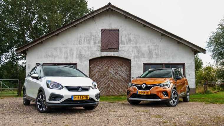 Dubbeltest Honda Jazz Crosstar vs. Renault Captur E-Tech Plug-in Hybrid