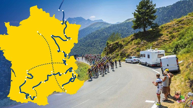 Tour de France 2017: overnachten langs de route
