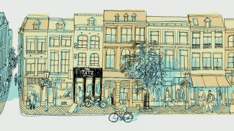De Straat Rechtstraat In Maastricht