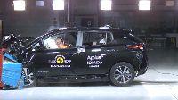Nissan Leaf scoort 5 sterren in botsproef