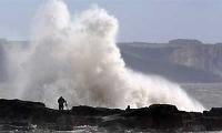 Orkaan Ierland en bosbranden Portugal/Spanje